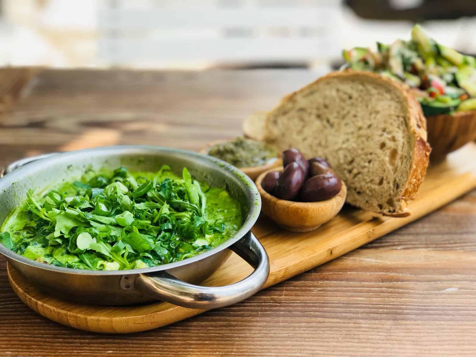 שקשוקה גבינות ירוקה, צילום: יח