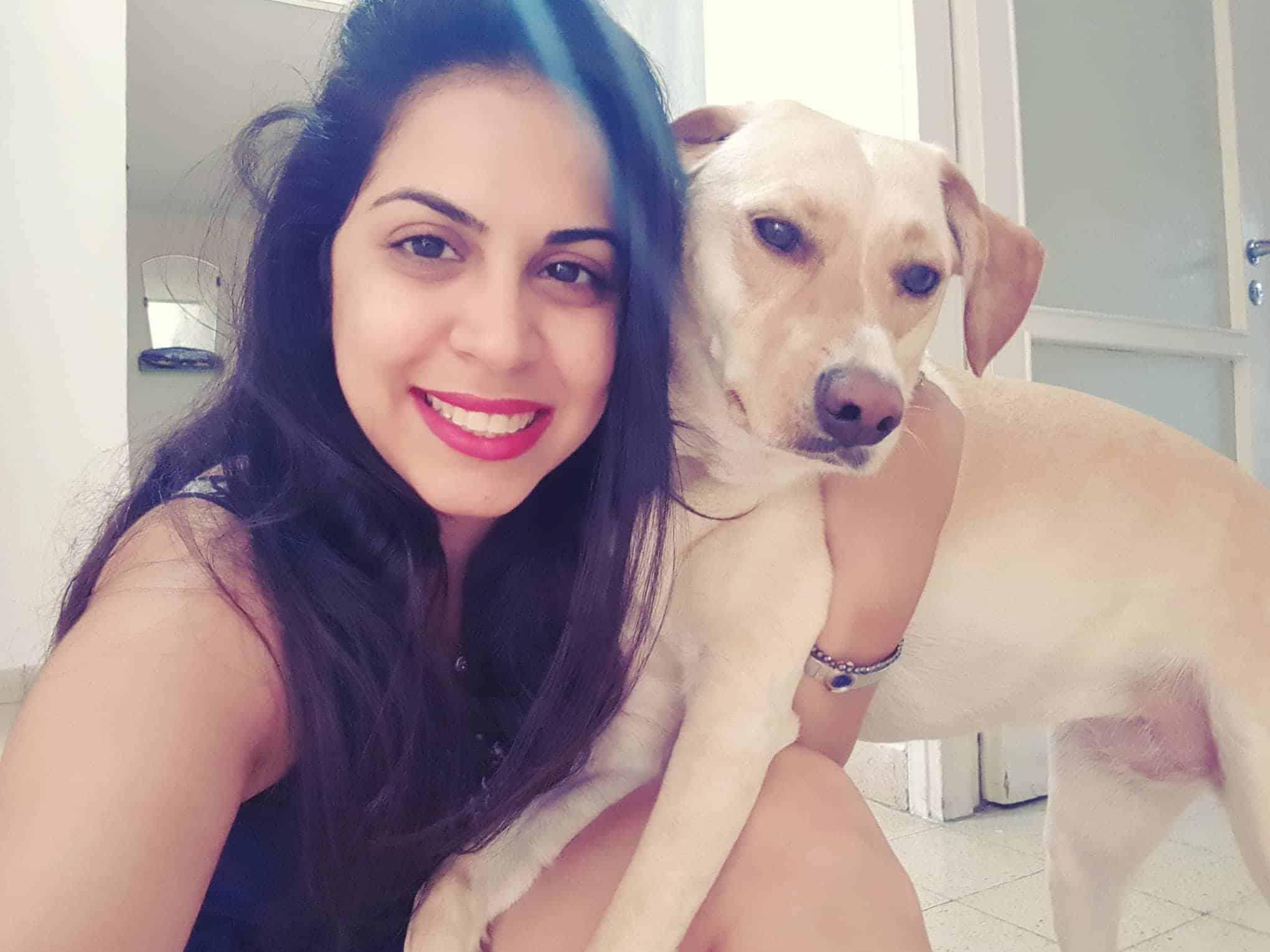 הילה והכלב סול, צילום: פרטי