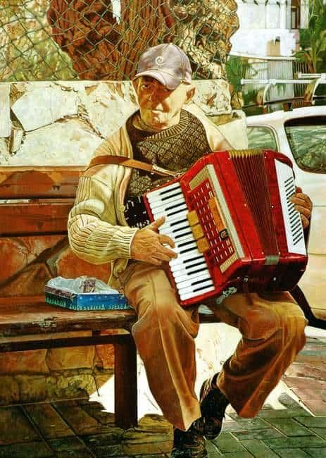 ניגן ברחובות כדי לשרוד, צילום: פרטי