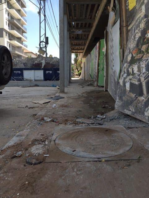 חיים באתר בנייה, צילום: באדיבות תושב השכונה