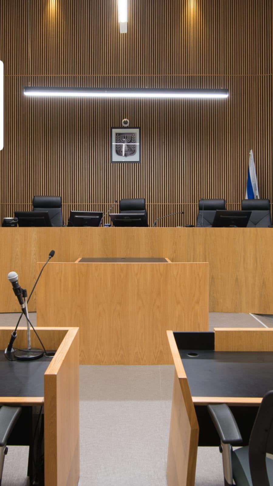 אולם בית משפט השלום בתל אביב, צילום: אבי פוגל