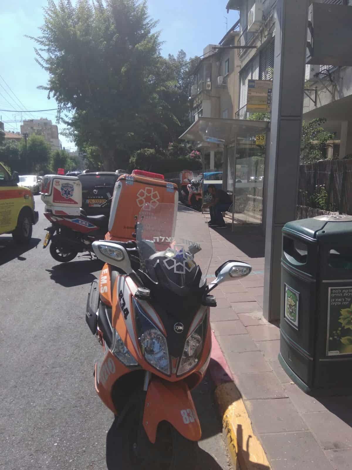 החובש היה על הרחוב בשעת הקריאה, צילום: דוברות איחוד הצלה